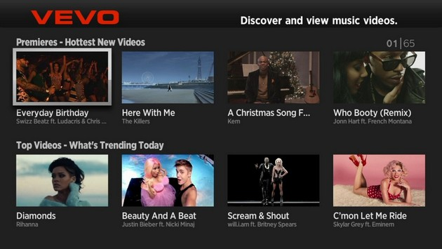 VEVO Samsung Smart TV App