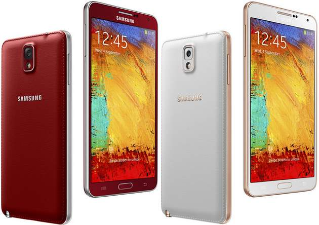 Galaxy Note 3 in New Colors: Rose Gold White, Rose Gold Black and Merlot Red