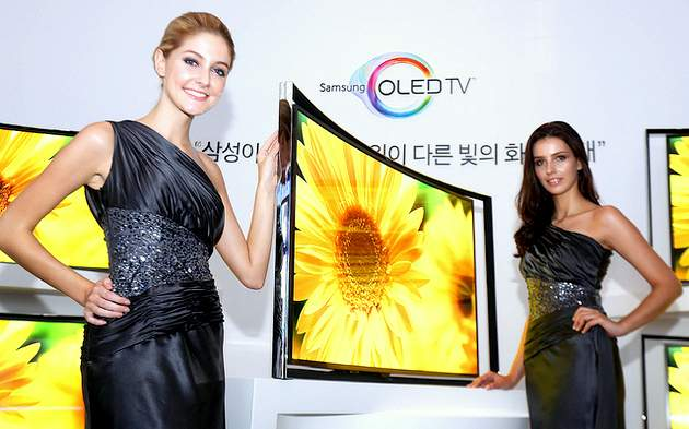 Samsung Flexible OLED TV at CES 2014