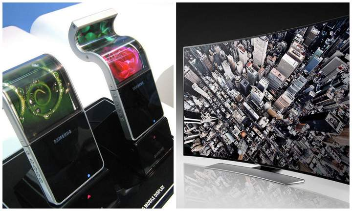 Samsung Bendable LED TV