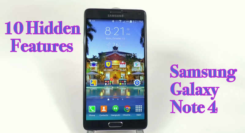 10 Hidden Features of the Galaxy Note 4 You Don t Know About   YouTube