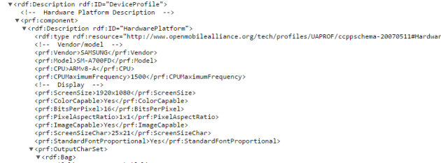 A7 user agent profile 630x233 Galaxy A7 Will Have 64 Bit Processor