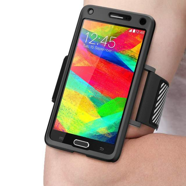Supcase Samsung Galaxy Note 4 Case & Running Armband Combo