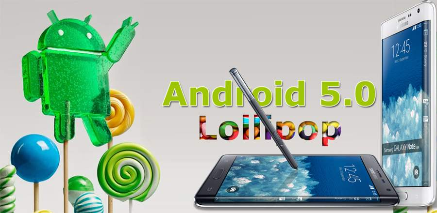 Android 5.0.1 Lollipop Leaks For Samsung Galaxy Note Edge ...
