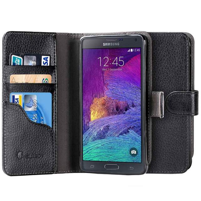 i-Blason Slim Leather Wallet for Samsung Galaxy Note 4