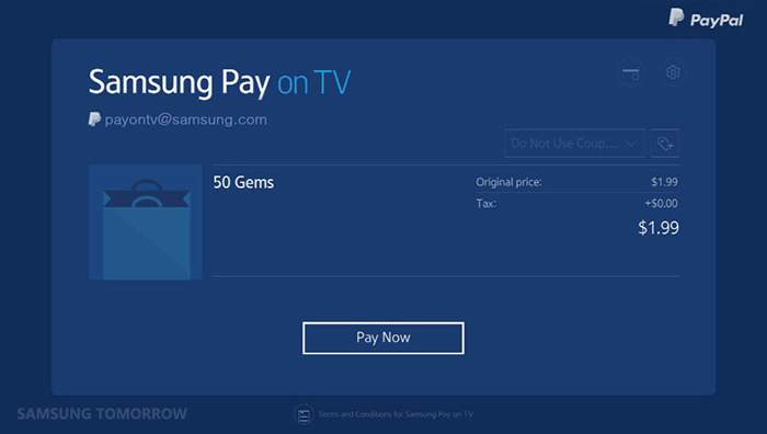Samsung Pay Arrives for Smart TVs - Samsung Rumors