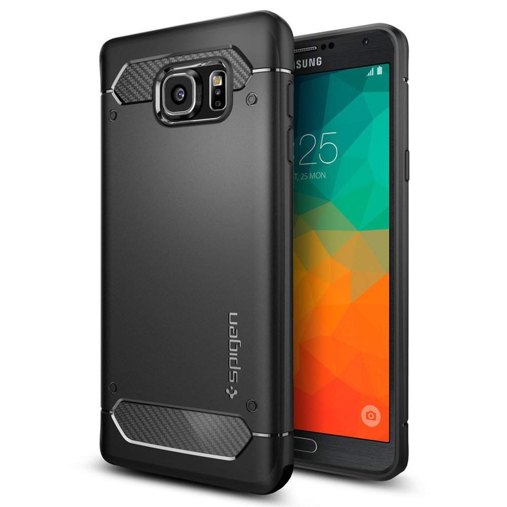 1 Spigen Rugged Armor Resilient Galaxy Note 5 Case