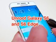 Unroot Galaxy S6 and S6 Edge