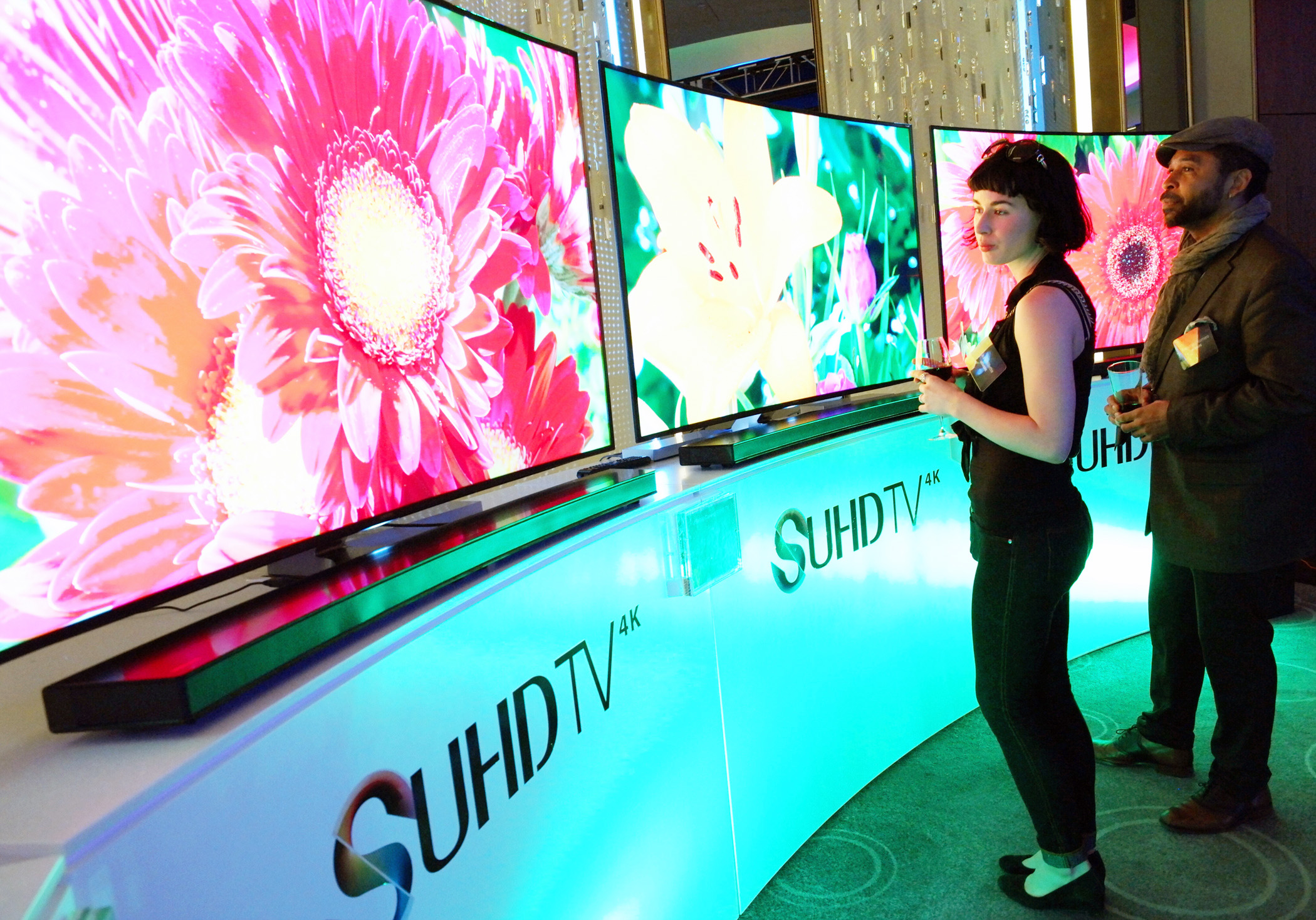PHOTO-Samsung¡¯s-new-SUHD-TVs-at-a-launching-event