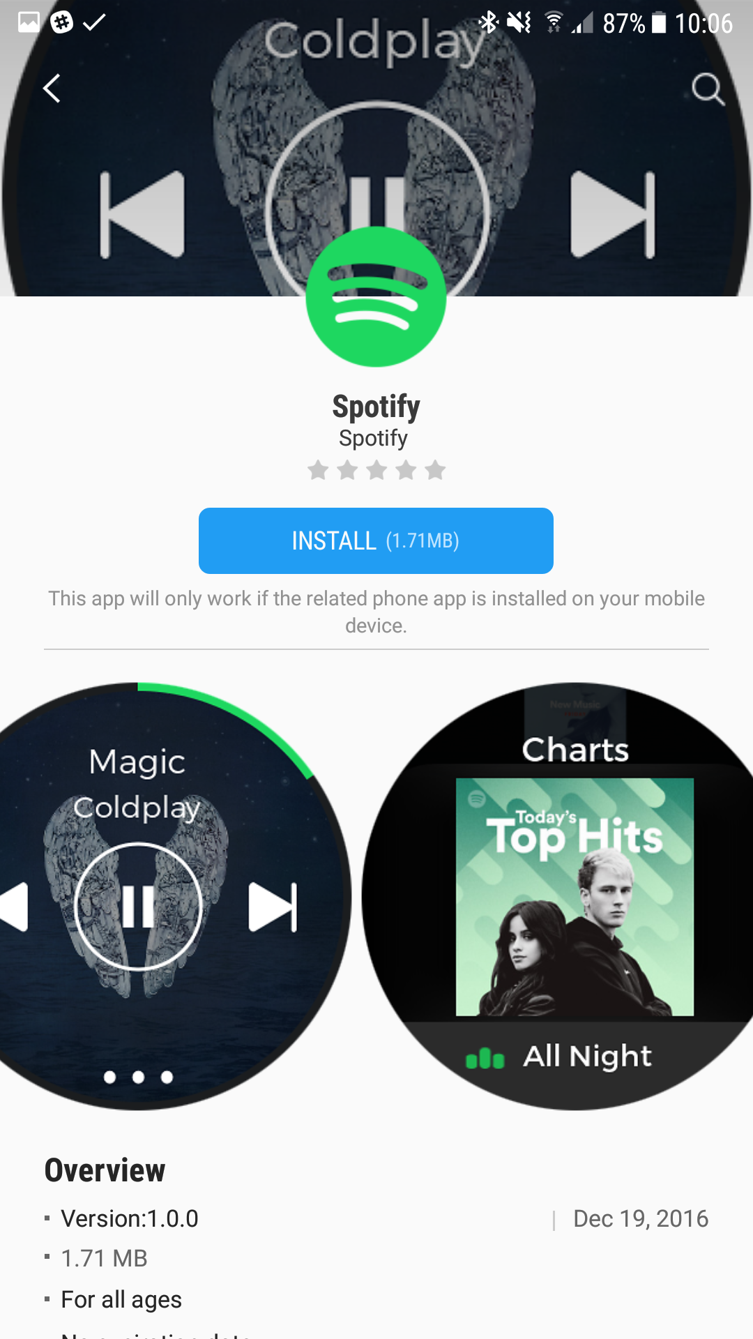 Spotify on gear