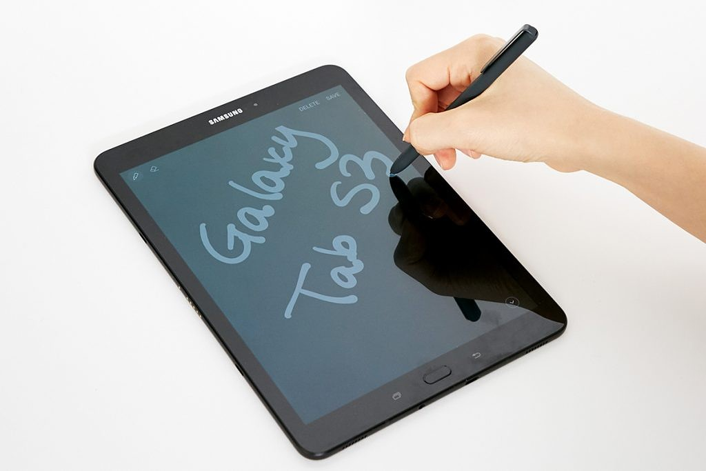 A hands-on video of the Samsung Galaxy Tab S3