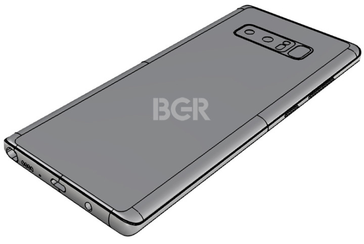 New Note 8 leak shows the fingerprint sensor location