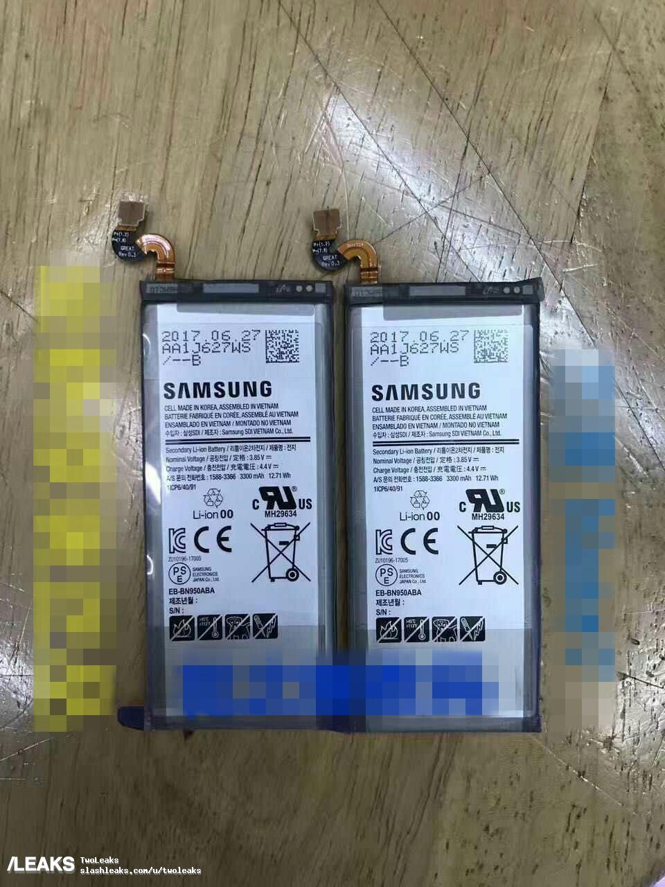 Note 8's battery capacity leaked