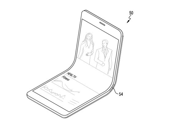 Samsung producing phone that folds inward?