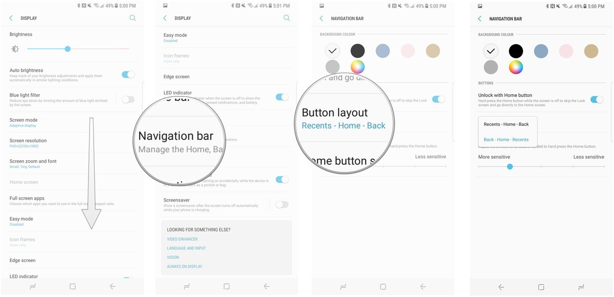 step 4, 5 and 6 for changing navigation buttons